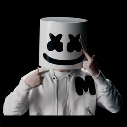 $enCountryForm.capitalKeyWord Australia - DJ Marshmello Cosplay Mask Full Face Latex Prop Helmet Masks Women Man Mask Party Bar Electronic Syllable Cosplay Accessories