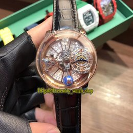 mens gold watches diamonds 2019 - Static version EPIC X CHRONO CR7 Astronomical Tourbillon Skeleton Diamonds Dial swiss Quartz Mens Watch Rose Gold Case C