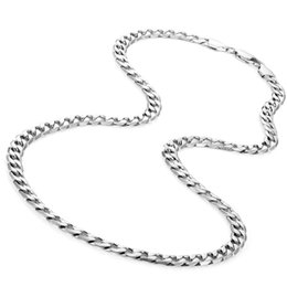 mens figaro chain necklace NZ - jewelry for neck silver chains necklaces mens stainless steel fashion Figaro necklace steampunk hip rock long necklace wholesale
