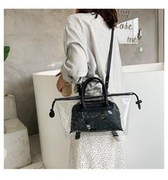 Discount spring handbags - Transparent Jelly Female Spring and Summer 2019 Chao Korean Edition Fashion Tote Handbag Single Shoulder Bag