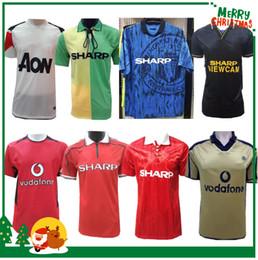 5e9e3ae6a Retro 1992 1994 2002 2003 2007 2010 Manchester Soccer Jersey RONALDO  training wear special edition Sports football shirt
