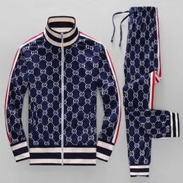 Wholesale pocket suit velour for sale – designer 18ss year sportswear jacket suit fashion running sportswear Medusa men s sports suit letter printing clothing tracksuit sports