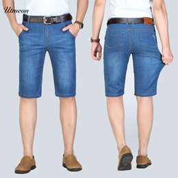 Size 46 Clothes Australia - New 2019 Summer Denim Shorts Men Fashion Jeans Casual Cotton Slim Fit High Quality Brand Clothing big size 42 44 46