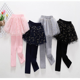 girls spring tutu NZ - Baby Girls Clothes Infant Toddler Girls Culottes Leggings Spring Autumn Winter Soft Warm Star Lace Pant Skirts Girls Tutu Skirt Pants