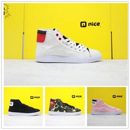 pink canvas shoes for women NZ - Jumpman Skyhigh Og Breathable Canvas Casual Shoes For Men Women Black White Pink Red Classic Comfort High Designer Sports Sneakers EUR 36-44