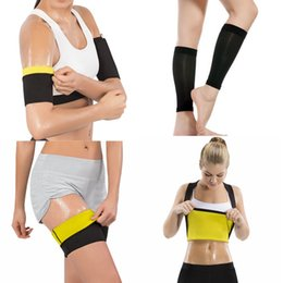 75ed46847240d Women Shapers Sweat Sauna Slimming shirt Hot Body Shaper Arms Sleeves Leg  Sleeves Thigh Trainer Calf Shapewear Weight Loss Suits