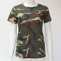 $enCountryForm.capitalKeyWord Australia - Women Camouflage T Shirt 2019 Summer Short Sleeve T-Shirt Girls Casual Tops Tees Slim O-neck Female Cotton Tops Plus Size S-XXXL
