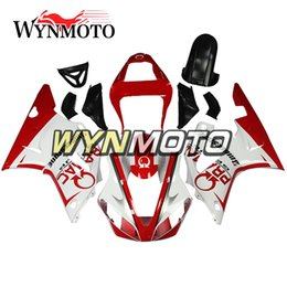 $enCountryForm.capitalKeyWord Australia - New Cowlings For Yamaha YZF1000 R1 2000 2001 Complete Bike Body Frames R1 00 01 Aftermarket Motorcycle ABS White Red Body Work