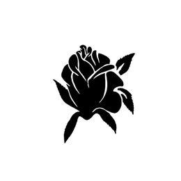 "$enCountryForm.capitalKeyWord Australia - Rose Flower Vinyl Decal Sticker Truck Window- 6"" Tall White Color Rear Window Car Sticker"