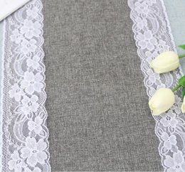 $enCountryForm.capitalKeyWord NZ - grey lace table runners vintage burlap jute linen dinning room table runners cloths home restaurant table decorations 30x275cm