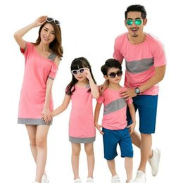 $enCountryForm.capitalKeyWord Australia - 2019 Family Matching Outfits Summer Family Look Matching Clothes Mother Daughter Sloping Shoulder Dress 3 Colors