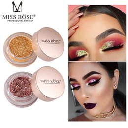 Silver makeup palette online shopping - MISS ROSE Glitter Powder Eyeshadow Pigment Palette Makeup Diamond Shining Silver Gold Pink Waterproof Shimmer Nude Eye Shadow