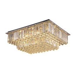 $enCountryForm.capitalKeyWord Australia - New design modern crystal chandelier lights living room bedroom square crystal chandeliers lamps luxury ceiling chandelier lighting fixtures