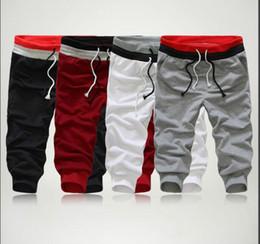 Estilo de verano para hombre Harem Capri Sport Athletic Baggy Jogger Shorts Mezclas de algodón Shorts Negro Gris Talla S-XXL en venta
