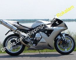 yamaha r1 plastics kits NZ - Sliver Body Kit For Yamaha Parts YZF R1 2002 2003 YZF1000 02 03 YZF-1000 ABS Plastic Motorcycle Fairing (Injection molding)