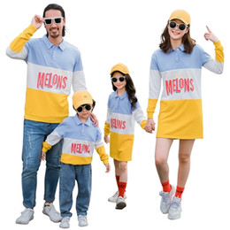 mom son clothing UK - Family Matching Sweatshirt Autumn Winter Mom and Daughter Causal Dress Dad Son Sports Sweatshirts Family Matching Clothes CJ191210
