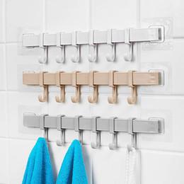 $enCountryForm.capitalKeyWord Australia - 6-Hook Bathroom Organizer Hanger Tools Organizer Towel Holder Key Hooks Kitchen Cupboard Storage Rack Shelf