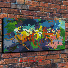 Painting horses modern art online shopping - Horse Riding Competition Canvas Pieces Home Decor HD Printed Modern Art Painting on Canvas Unframed Framed