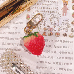 China Keychain Strawberry Keychain Charms Keyring Bag Purse Cell Phone Pendants Creative Gifts suppliers