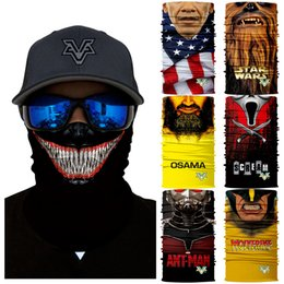 eb30b9f38f6 Venom Cosplay NZ - 3D Marvel Cycling Face Mask Wolverines Venom Neck Gaiter  Cycling Headband Magic
