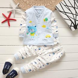 Infant Boy Sleepwear Australia - good quality 2019 baby boys clothing spring cltohes sets 2PCS infant sleepwear suit cartoon coat+ pajamas toddler sport clothes set