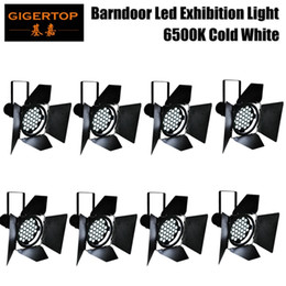 Wholesale 8lot motor x10w cold white color LED exhibition stand barndoor dmx par light pure white color