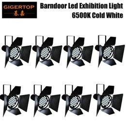 8lot Motor 31x10 Вт холодного белого цвета LED выставочный стенд Barndoor DMX номинальной светло-белого цвета