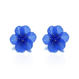 simple nail styles Australia - The new style in Europe and the United States is exaggerated, fashion, simple flower alloy earrings, ear nails, bohemian style.