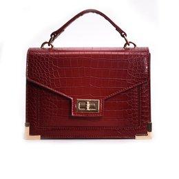 Crocodile Hand Bags Australia - Crossbody Bags for Women 2019 New Quality PU Leather Ladies Hand Bags Crocodile Leather Bags Famous Designer Women Shoulder Bag
