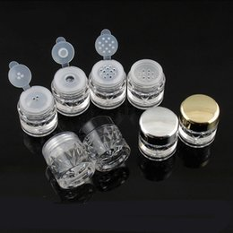 Glitter Sifter UK - 5G Mini Diamond Shape Loose Powder Bottle Empty Powder Case Travel Cosmetic Glitter Powder Eye Shadow Box Pots Bottles with Sifter and Lids
