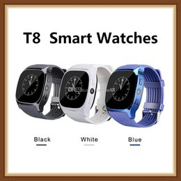 $enCountryForm.capitalKeyWord Australia - For Android New T8 Bluetooth Smart Watches Support SIM &TF Card With Camera Sync Call Message Men Women Smartwatch Watch