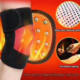 Wholesale Tourmaline Self Heating Knee Pads Magnetic Therapy Kneepad Pain Relief Arthritis Brace Support Patella Knee Sleeves Pads