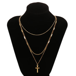 $enCountryForm.capitalKeyWord UK - Bohemian Bead Necklaces For Women Vintage Choker Cross Multi-layer Necklace Colares Statement Party Jewelry 2019 New