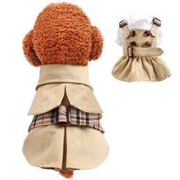 classic pet supply NZ - Pet Dog Clothes Apparel Spring Summer Vest Cotton Puppy Wedding Dress Handsome Windbreaker Clothes Supplies Wholesale 0025PET