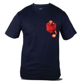 f2782ccd 7983-Nv Factory Outlet Go Pokeball Fashion Famous Cartoon Navy Blue Men Tee  T-Shirt T Shirt For Men Swag Short Sleeve Cotton Custom XXXL