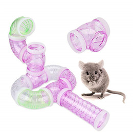 $enCountryForm.capitalKeyWord Australia - hot Sell Multi-style Tunnel Fittings Transparent Acrylic Cage Hamster Accessories Cheap Small Pet Toys Q190604