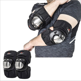 $enCountryForm.capitalKeyWord Australia - Motorcycle Motocross Off-road ATV Stainless Steel Racing Rider Skating Elbow Knee Pads Sets Armor Protective Guard Armed