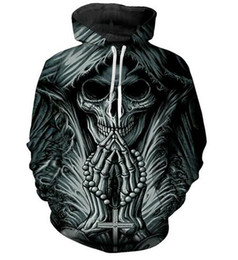 4b675e5d1 Color Men Tattoo UK - Unisex Grim Reaper Skull Tattoo Funny 3d Print Casual  Crewneck Hoodie