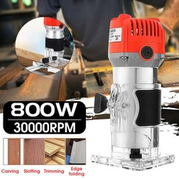$enCountryForm.capitalKeyWord Australia - Freeshipping 800W 220V 30000Rpm Electric Hand Trimmer Wood Router Laminate 6.35Mm Durable Motor Diy Carving Machine Woodworking Power Tool