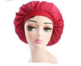 China New Hot Muslim Women Stretch Sleep Turban Hat Scarf Silky Bonnet Chemo Beanies Caps Cancer Headwear Head Wrap Hair Loss Accessories suppliers