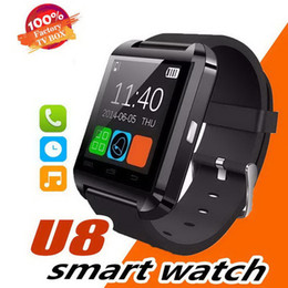 smartphone smart watch android NZ - Bluetooth Smartwatch U8 Smart Watch Phone Mate Wrist Touch Watches for iPhone 4S 5 5S Samsung S4 S5 Note 2 3 HTC Android Phone Smartphone