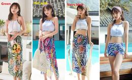 $enCountryForm.capitalKeyWord Canada - Bikini Beach Resort Hot Spring 2019 Three-piece Swimsuit Skirt-style Bathing Suits Swimwear Printing Fashion Shawl With Chest Pad ZH0003