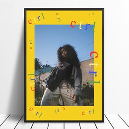 Discount cover pop art - SZA - Ctrl Album Pop Music cover Music Star Poster Canvas Prints Wall Art For Living Room Home Decor