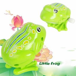 Animal Toys Jump NZ - Cute frog clockwork animal large chain toys baby boys girls toy jumping frog pull back wind up toy