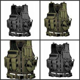 TacTical vesT green online shopping - Game Equipment Protective Vest Wild Adventure Multiple Pockets Multi Function Army Green Black Cool Tactical Vests Hot Sale ayD1