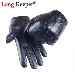Leather Gloves Long Finger Men Australia - Long Keeper Guantes Tactil Glove Women Touched Screen Gloves Men Leather gloves Autumn Winter Full Finger Unisex luvas G243