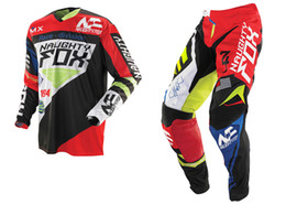 $enCountryForm.capitalKeyWord Australia - 2019 NAUGHTY Fox MX Gear Set 360 Motocross ATV Dirt Bike Off-Road Gear Pant Jersey Combo RED   BLACK
