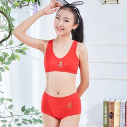 $enCountryForm.capitalKeyWord Australia - New red girl bra set cotton sports no steel ring underwear set