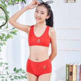 $enCountryForm.capitalKeyWord Australia - New red girl bra set cotton sports no steel ring underwear set