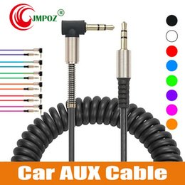 $enCountryForm.capitalKeyWord Australia - 3.5mm Auxiliary Audio Cable Cord Flat 90 Degree Right AUX Cable with Steel Spring Relief for Headphones iPods iPhones Laptop Home Car Stereo